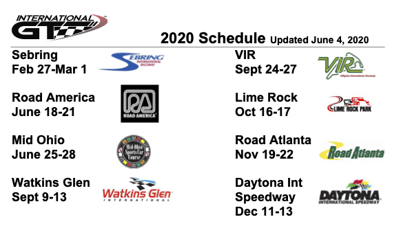 International GT 2020 Schedule