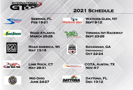 IGT 2021 race schedule